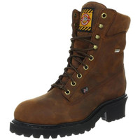 Justin Mens Leather Steel Toe Work Boots
