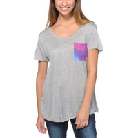 Empyre Girls Kessler Galaxy Pocket Grey Tee Shirt at Zumiez : PDP