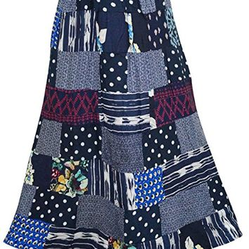 Women's Skirts Print Patchwork Maxi Skirts Gift For Her L…