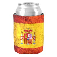 Spain flag can cooler