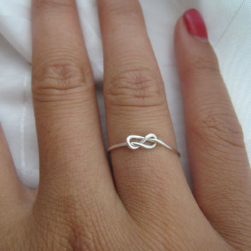 Infinity Knot Ring by DesignedByLei on Etsy