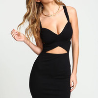 Black Bandage Wrap Bodycon Dress - LoveCulture
