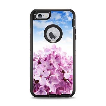 The Blue Sky Pink Flower Field Apple iPhone 6 Plus Otterbox Defender Case Skin Set