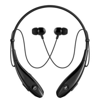 VONW3Q Bluetooth Headphones, SoundPEATS Wireless Headset Stereo Neckband Sport Earbuds with Mic (10 Hours Play Time, Bluetooth 4.1, Sweatproof) -Black