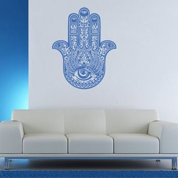 ik902 Wall Decal Sticker hamsa hand protective amulet bedroom