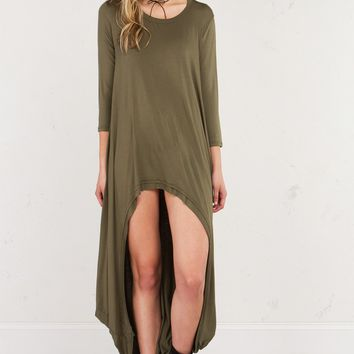 HIGH LOW LONG SLEEVE DRESS - What's New