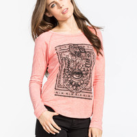 Billabong Talk To The Hand Womens Tee Coral  In Sizes