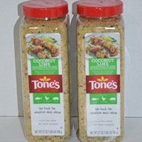 Tone's Coconut Lime Seasoning Blend 2 Packs 27 Oz Each
