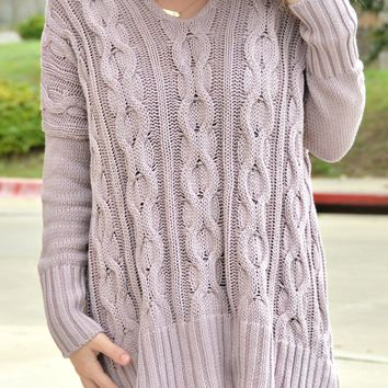 Turn To Me Sweater - Mauve