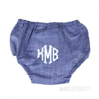 Monogrammed Baby Bloomers | Marleylilly