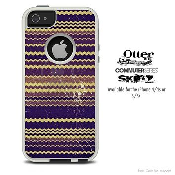 The Wild Swirly Chevron Skin For The iPhone 4-4s or 5-5s Otterbox Commuter Case
