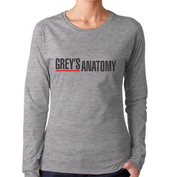Grey's Anatomy Greys anatomy on Longsleeve Women tee (G4400L Gildan Junior Fit Soft Style)