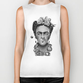Frida kahlo Space Biker Tank by Lostanaw