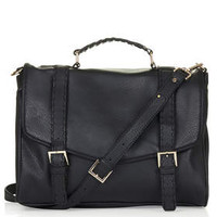 Whipstitch Satchel - Black