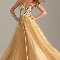 Sequin Ball Gown by Night Moves 6499