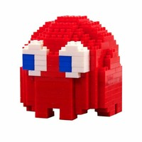 Build Your Own Red Blinky PAC-MAN Ghost Pixel Bricks : TruffleShuffle.com