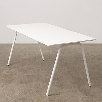White Flatiron Desk | Modern Office Furniture | Poppin