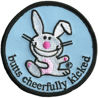 Happy Bunny - Butts Cheerfully Kicked Patch
