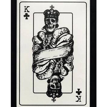 """King of Clubs Art Print / Poster - 13x19"""""""