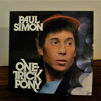 "Vintage 1980 Paul Simon ""One-Trick Pony"" Vinyl LP Album Released by Warner Brothers Records / From Movie of the Same Name / Soundtrack"