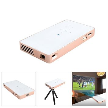"""1080P 360°Rotation Mini Smart Projector Linux Wide Project Dimension 40-120"""" With HDMI USB Speaker"""