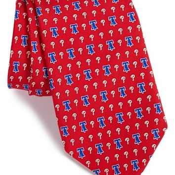 Men's Vineyard Vines 'Philadelphia Phillies - MLB' Print Silk Tie, Size Regular - Red