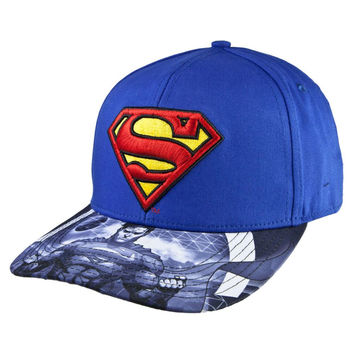 Superman - Logo Action Sequence Brim Snapback Cap