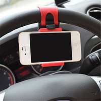 Universal Car Steering Wheel Phone Socket Holder Navigate Case Cover For iPhone 4 5 6 6S Plus For Samsung Galaxy S4 S5 s6 edge