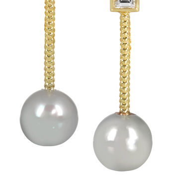 Jemma Wynne - Revival 18-karat gold, diamond and pearl earrings