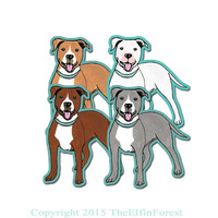Pit Bull Dog Pitbull Car Window Sticker, Vinyl iPhone Decal waterproof durable indoor/outdoor
