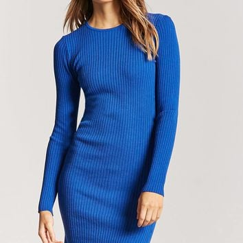 Ribbed Knit Bodycon Midi Dress