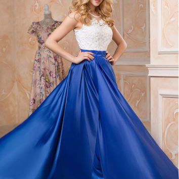 Blue maxi dress, lace sleeveless dress, summer evening dress, wedding guest dress blue, romantic womens dresses, formal evening dresses 2016