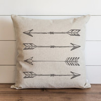 Gray Arrows 20 x 20 Pillow Cover