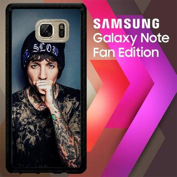 Oliver Sykes Bring Me The Horizon And Signature F0543 Samsung Galaxy Note FE Fan Edition Case