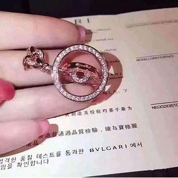Bvlgari  Classic time to run the necklace, inner circle can rotate  Necklace