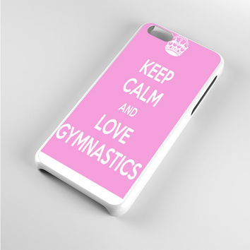 keep calm and love gymnastics pink iPhone 5c Case
