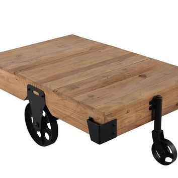 Coppermine Rustic Industrial Coffee Table