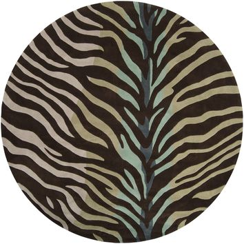 Surya Cosmopolitan COS8865 Brown/Grey Animal Area Rug