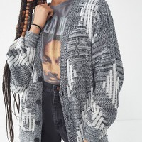 Vintage Oversized Patterned Cardigan | Urban Outfitters