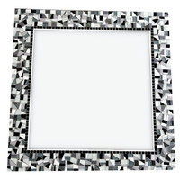 Black, White, Gray Mosaic Wall Mirror