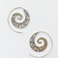 Indian Spiral Earrings in Silver