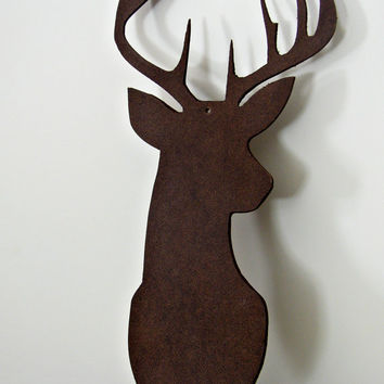 Deer Wall Hanging - Decorative Deer Art - Deer Craft Supplies - Deer Silhouette - Home Decor -Cabin Decor - Craft Item