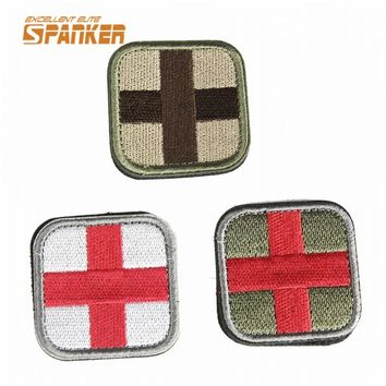1pc Tactical Military Embroidery Patch Mini Combat Gear 3D Armband Airsoft Outdoor Hiking Camping Patches Hunting Accessories