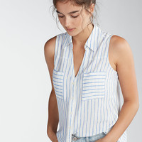 Striped Sleeveless Portofino Shirt