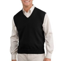 Port Authority Signature Men's Big Fine-Gauge V-Neck Sweater Vest. SW276