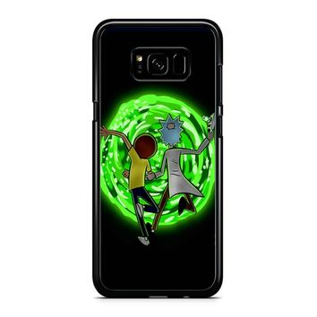 Rick And Morty Portal 2 Samsung Galaxy S8 Plus Case