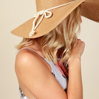 Sparkling Water Straw Hat Tan