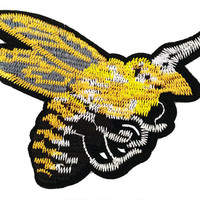 XL Extra Large Stunning Wasp Bee Patch 14cm Applique