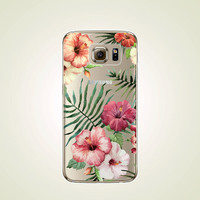 Vintage Floral TPU Soft case Samsung Galaxy S4 case, S5 case, S6 case, Flower S6 edge case, Note 3 case, Note 5 case, S6 plus edge case