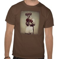 "Boxer Boxing Dog Tee ""The Champ"" by Watchful Crow from Zazzle.com"